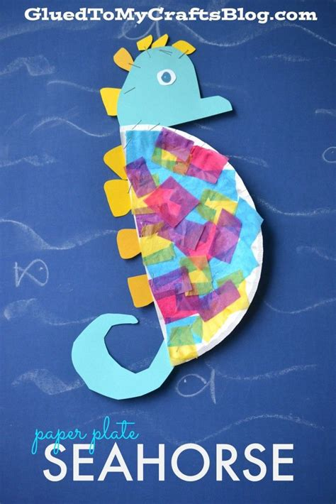 Seahorse Paper Plate Craft - 17 best images about sea kindergarten on