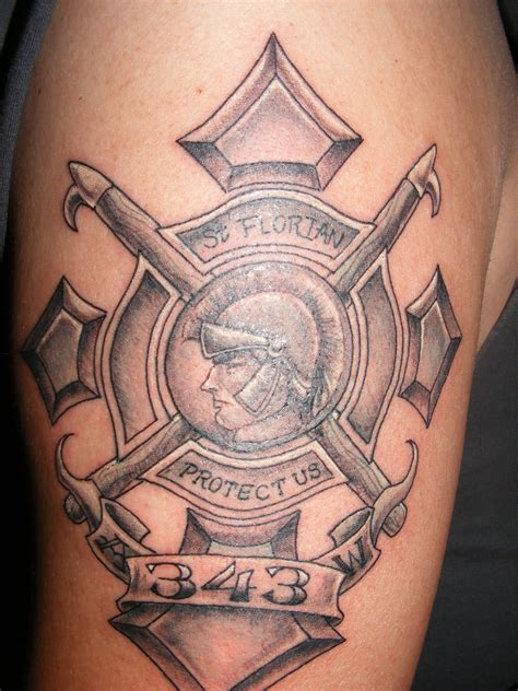 fireman cross tattoo firefighter tattoos designs ideas and meaning tattoos