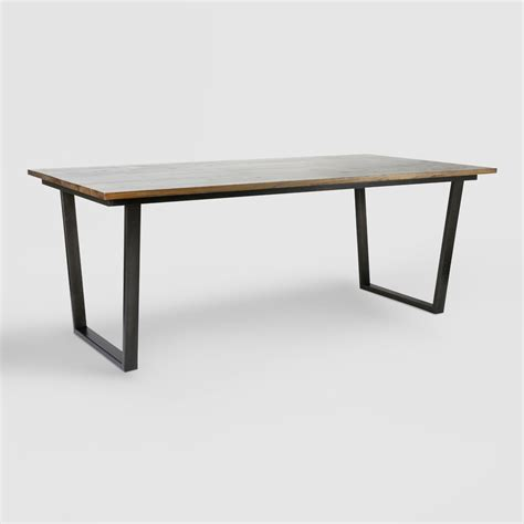 wood and metal dining table wood and metal ryley dining table market