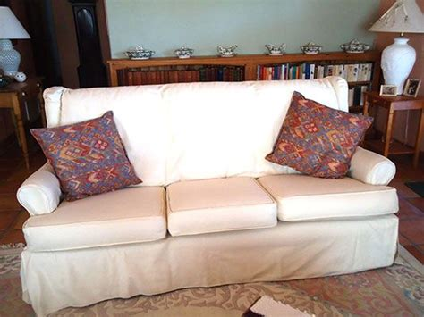 Wing Loveseat Slipcover white slipcovers wingback sofa slipcover magic before afters