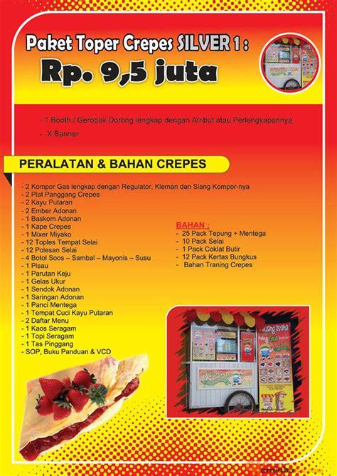 desain gerobak crepes franchise crepes toper peluang bisnis makanan crepes