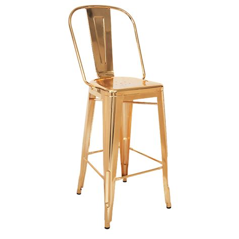 Bistro Style Bar Stools by Bistro Style Metal Bar Stool In Gold Finish