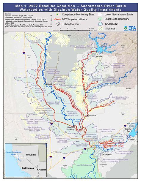 map of sacramento ca feather and sacramento rivers watersheds san francisco