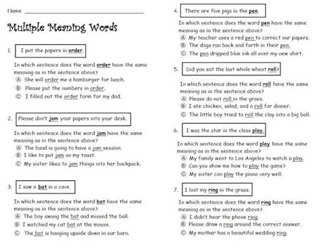 Meaning Words Worksheets 3rd Grade by The 9 Best Images About Meaning Words On