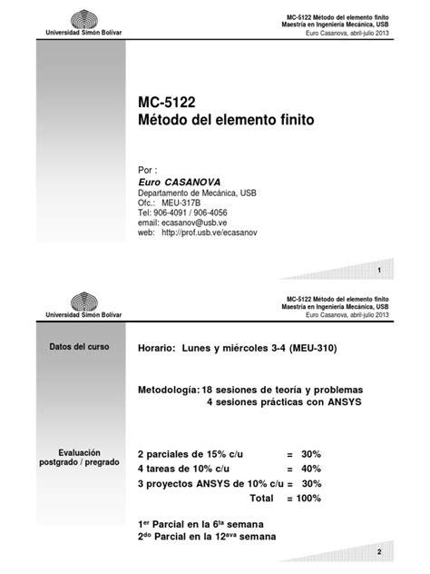 Método del elemento finito.pdf | Método de elementos