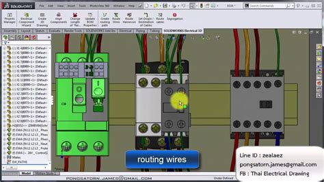 tutorial solidworks electrical 3d ต วอย างส อการสอน solidworks electrical 3d youtube