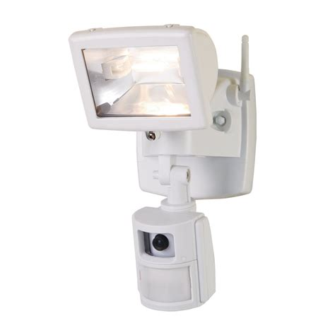 outdoor light with camera regent by cooper mac100w motion activated camera flood