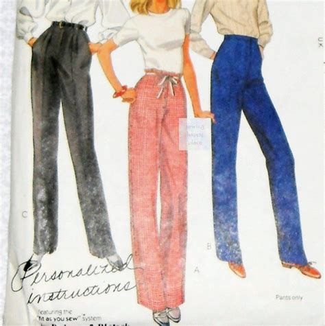 jeans trousers pattern palmer pletsch pants trousers 80s pattern pleated flat