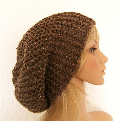 knitted slouchy hat patterns knitting hat pattern slouch hat pdf pattern fall