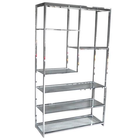 Etagere Chrom by Chrome Etagere By Milo Baughman At 1stdibs