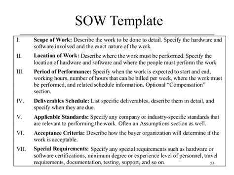 it project scope of work template project management scope of work project scope template