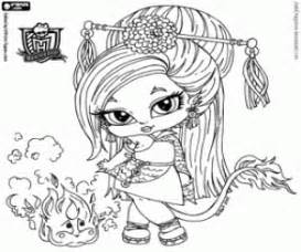 Jinafire Long The Daughter Of A Chinese Dragon Coloring Page sketch template