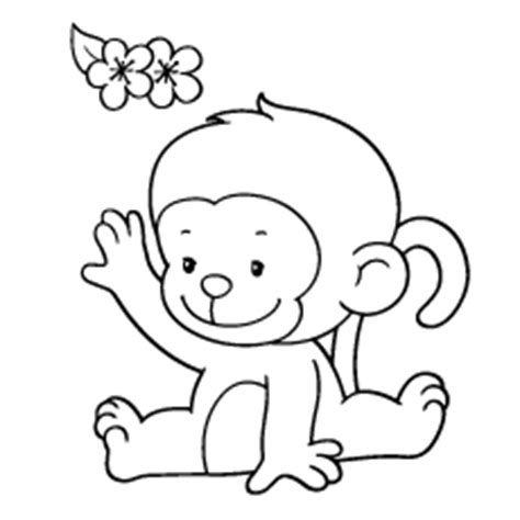 girl monkey coloring page cute girl monkey outline www pixshark com images