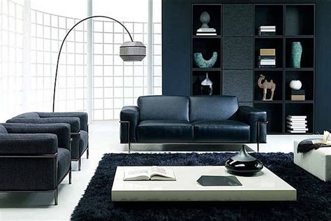 Living Room With Black Furniture How To Decorate A Living Room Using Black Furniture