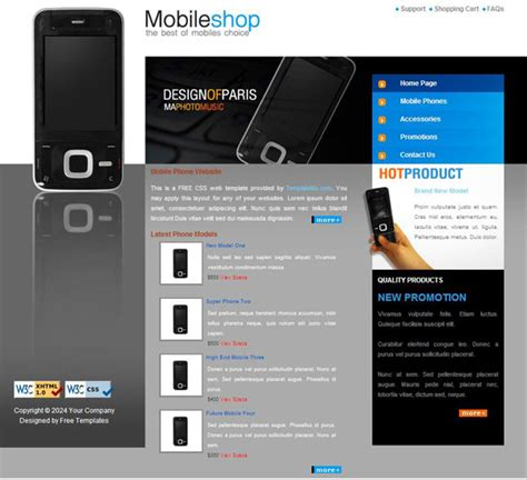 mobile themes css mobile web css page templates over millions vectors