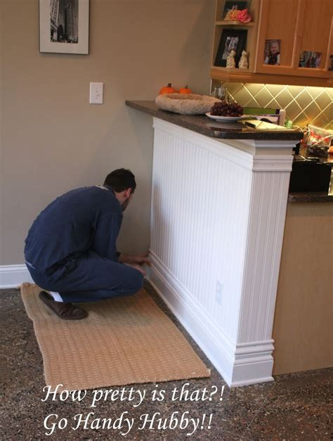 kitchen island wainscoting idea house makeover list