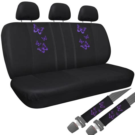 purple seat covers for cars suv truck seat cover purple butterfly 17pc set w