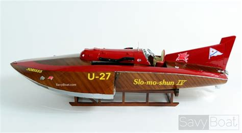 slo mo slo mo shun iv u 27 hydroplane handcraftred model