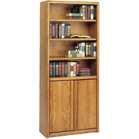 contemporary bookcase with doors martin home furnishings contemporary bookcase with doors