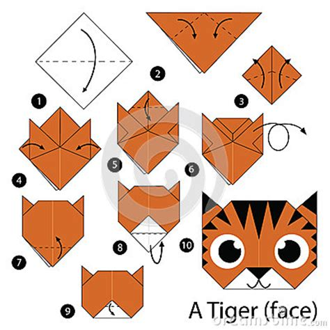 How Do You Make Origami Animals - step by step how to make origami a tiger