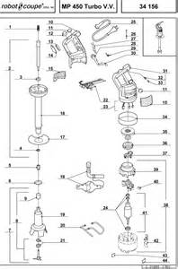 robot coupe mp450 turbo vv diagram and parts list