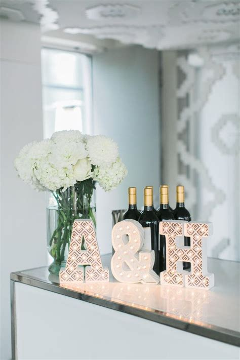 Decorating Ideas With Initials Best 25 Engagement Decorations Ideas On