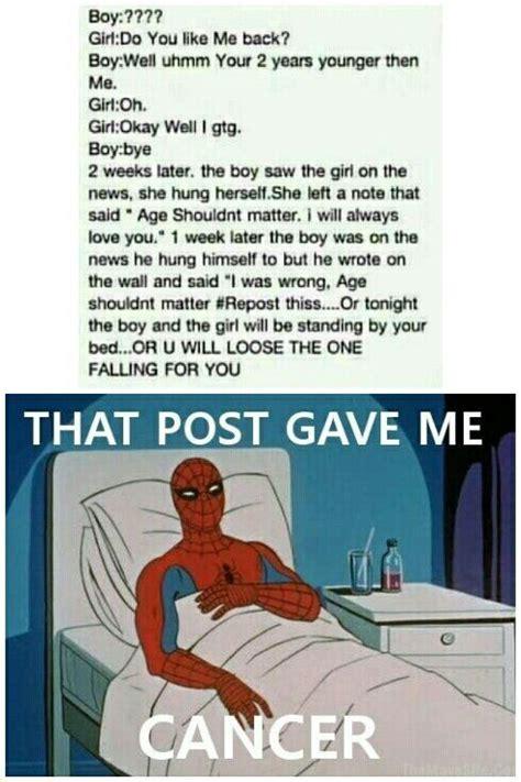 Gave Me Cancer Meme - that post gave me cancer no just no pinterest