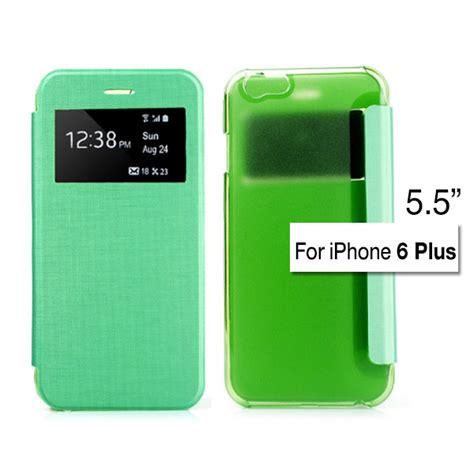 Ume Flip Cover View Iphone 6 Plus 55 Inchi Flip window view leather flip frosted cover iphone 6 plus