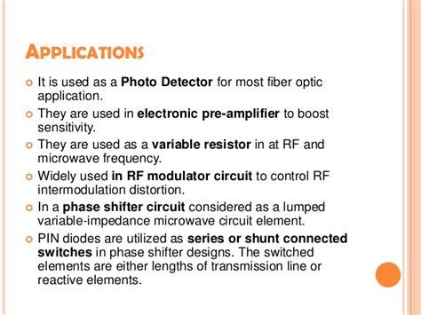 pin diode varactor pin diode varactor diode