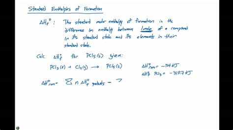 5 7 Standard Enthalpies Of Formation Youtube Standard Enthalpy Change Of Formation Data Table