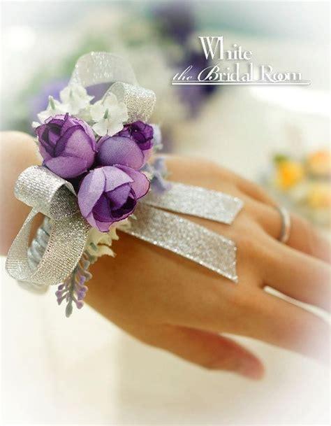 Handmade Wrist Corsage - wedding wrist corsage bridal bridesmaid accessory