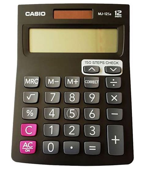 Casio Calculator Mj 12d casio mj 12sa basic calculator black buy at best