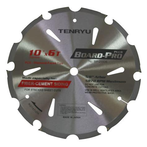 Bor Blade tenryu bp 25506 board pro plus fiber cement 10 quot 6t saw blade ebay