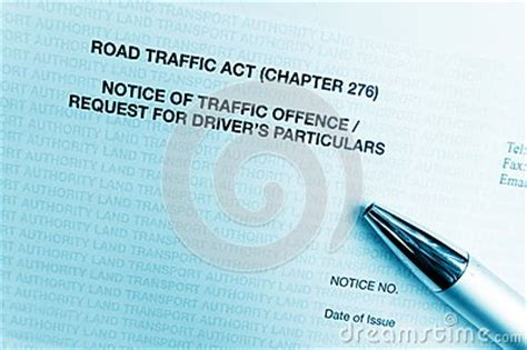 Traffic Offence Report No Letter Traffic Offence Notice Letter Royalty Free Stock Photos