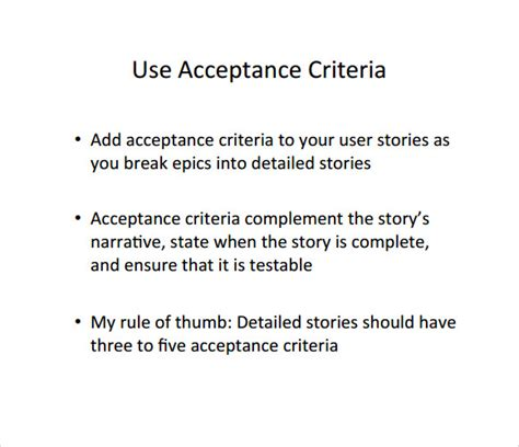 acceptance criteria template user story template 9 free documents in pdf