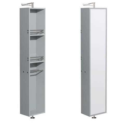 full size mirror cabinet wyndham wcryv202dg amare linen tower 360 degree