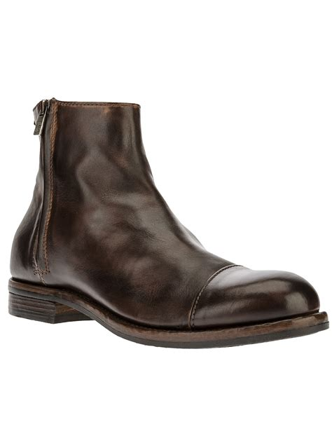 ankle length shoes for pantanetti ankle length boot in brown for lyst