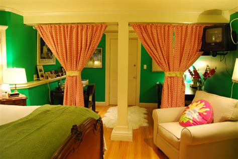 drapes to separate rooms curtains to separate the room groovy green guestroom