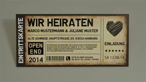 hochzeitseinladung festivalticket einladungskarten als ticket geburtstag vintage