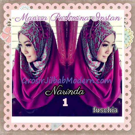 Nuhijab Syari Alnaira Fuschia 1 pashmina instan exclusive cantik modis marissa by narinda no 1 fuschia grosir jilbab modern