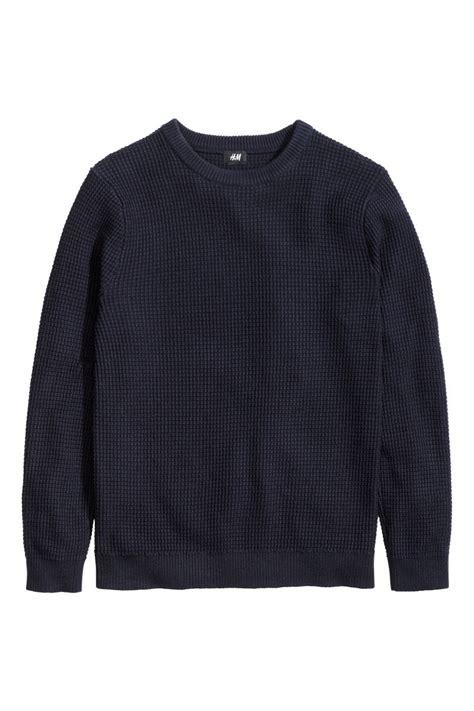H M Textured Knit Jumper Khaki Green textured knit sweater blue sale h m us