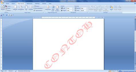 membuat watermark office 2007 cara membuat watermark di word panduan microsoft office