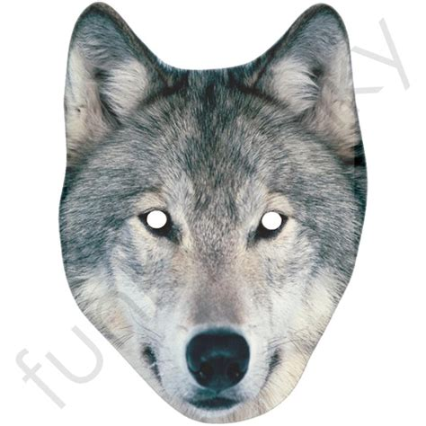 printable mask wolf wolf mask personalised and celebrity masks with next day