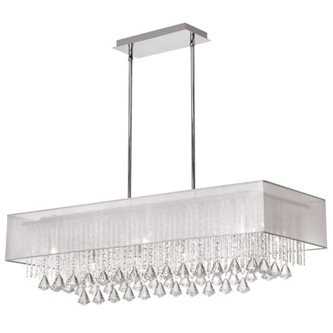 Horizontal Dining Room Chandeliers Radionic Hi Tech Jacqueline 10 Light Polished Chrome