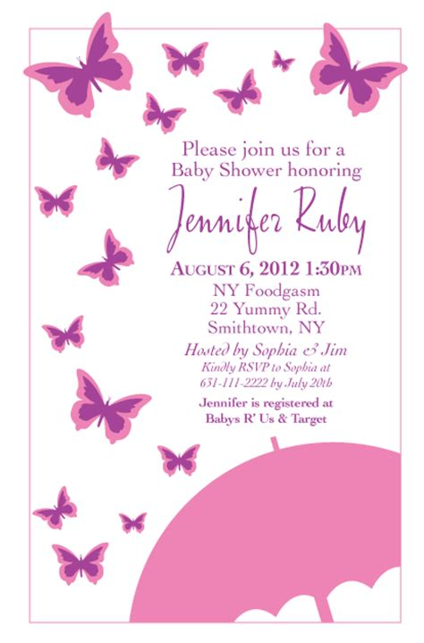 Butterfly Baby Shower Invitation by Wisdom Design Butterfly Baby Shower Invitation