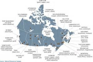 map of mines in canada mining canada mining
