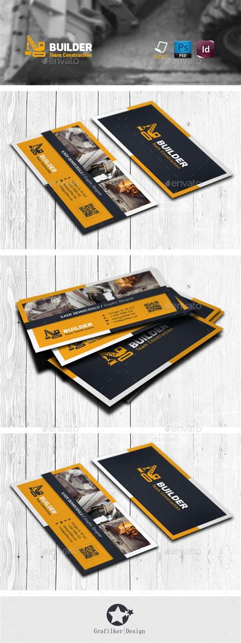 Construction Business Cards Templates Photoshop by The 25 Best Construction Business Cards Ideas On