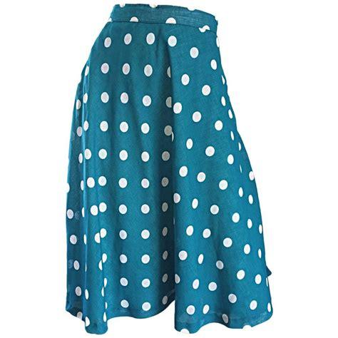 1950s turquoise blue white polka dot vintage 50s
