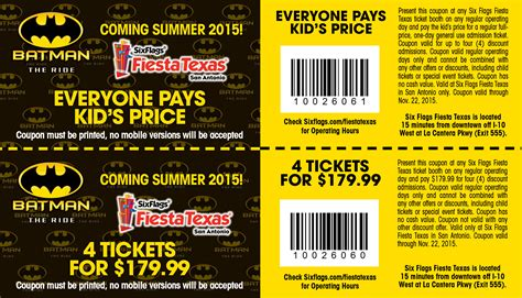 printable food coupons for six flags sixflags coupon 2017 2018 best cars reviews