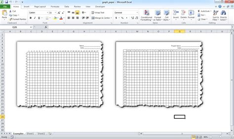 How Do I Make Paper - make graph paper in excel